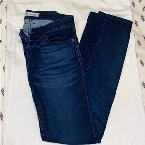 """Madewell 28"""" inseam dark wash jeans"""
